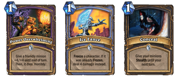 Power Overhelming, Ice Lance, Conceal