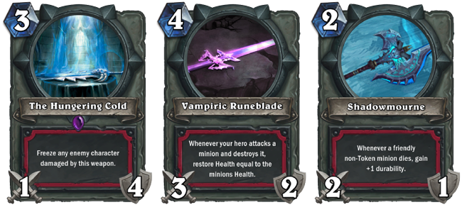 hoearthstone how to get death knight cards