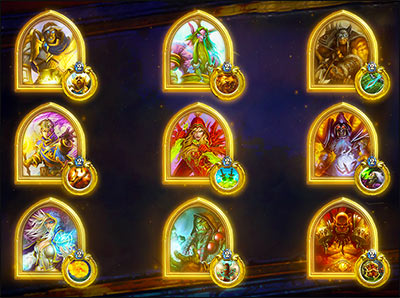 gold hero hearthstone