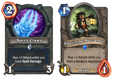 spirit Claws hearthstone Small Time Buccaneer